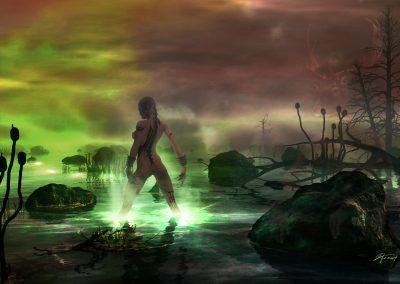 Space; Sci-Fi; DarkArt; Planet; Alien; Acidlake; Light