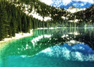 Landscape; Mountains; Mountainlake; Mist; Blue Sky; Spring Mood