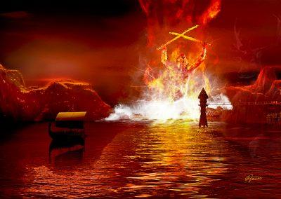 Fantasy; DarkArt; Water; Viking Shgip; Fire;