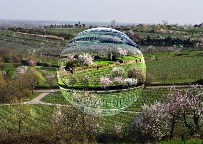 Image Editing; Glass Bubble; Almond Blossom