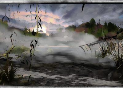 Landscape; Waterscape; Shipwreck; Aquarell
