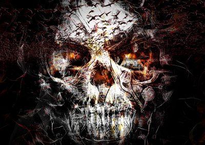 DarkArt; Skull; Horror; Birds; Texture