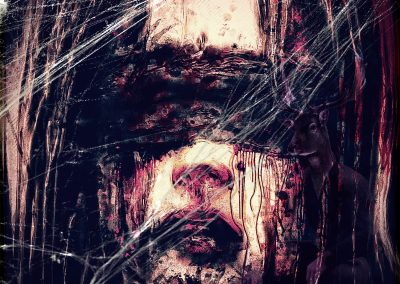 DarkArt; Blood; Horror; Cobwebs; Texture