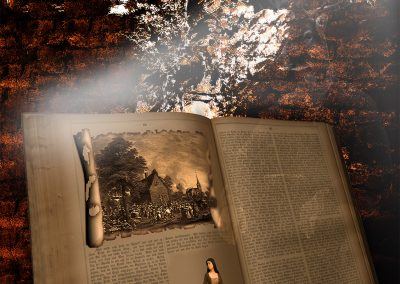 Composing; Old Book; Castle Wall