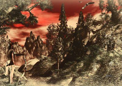 Fantasy; Landscape; Indian; Colourkey; Sepia