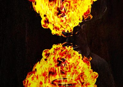 Composing; Heart; Reflection; Rings; Fire; Flames