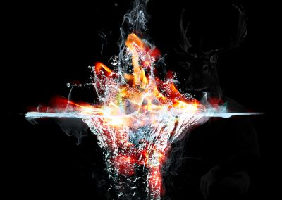 Abstrakt; Surreal; Composing; Fire; Water