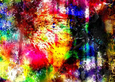 Brushes Pic; Painting; Abstract; Blobs; Bokeh; Colours; Colourful