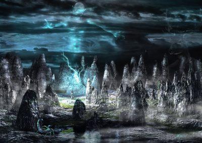 Fantasy; Night; DarkArt; Incanatation; Lightning