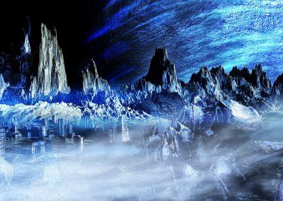 Space; Sci-Fi; City; Planet; Alien; Fog; Mist