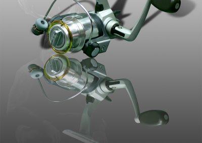 PS CS3 Image Editing; Daiwa; Spinningreel; Reflection