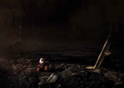 DarkArt; Apocalypse; Destruction; Book; Teddybear; Gas Mask