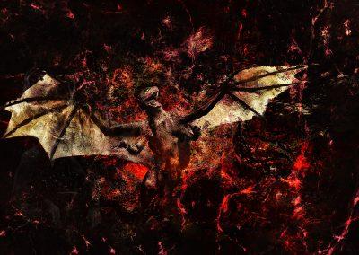 Fantasy; Dragon; DarkArt; Grunge; Texture