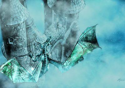 Fantasy; Dragon; Castle; Fog; Mist