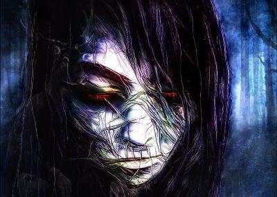 DarkArt; Face; Undead; Zombie