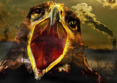 Composing; Eagle; Scream; Dead Forest; Air Pollution