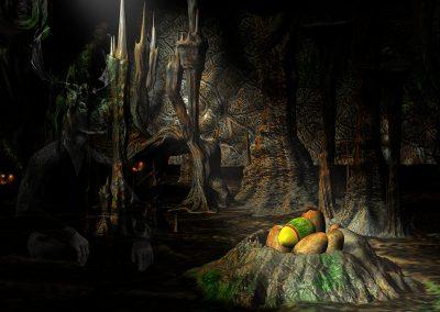 Fantasy; DarkArt; Dragon; Eastereggs; Cave; Nest