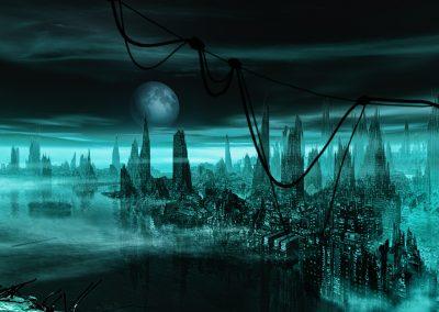 DarkArt; Apocalypse; Destruction; Town; Aftermath