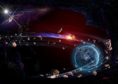 Space; Sci-Fi; Cave; Meteor