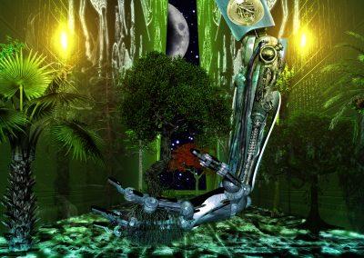 Space; Sci-Fi; Greenhouse; Trees; Cyborg