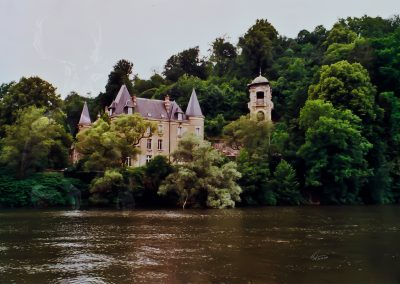Original Photo; France; River; Saone; Mansion; Villa; Forest