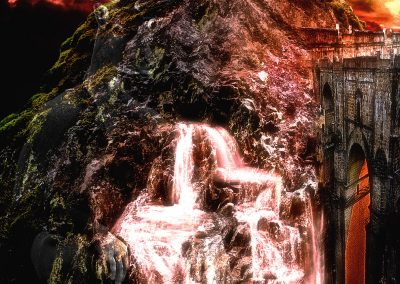 Composing; Patron; Saint; Waterfalls; Evening