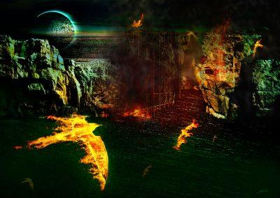 Composing; Fantasy; Phoenixes; Fire