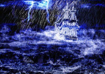 DarkArt; Ghostship; Thunderstorm; Rain; Heavy Sea