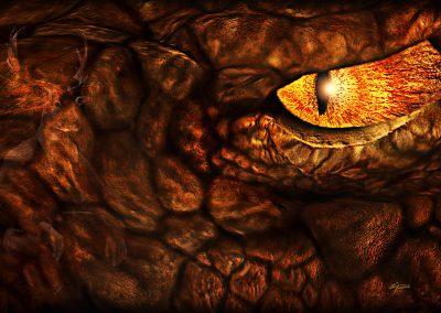 Fantasy; DarkArt; Dragon; Lizzard; Eye; Glance