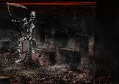 DarkArt; Skeleton; Grim Reaper; Scythe; Graveyard