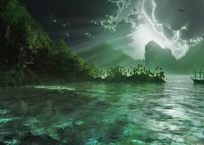 Seascape; Island; Thunderstorm Mood; Bad Weather; Godrays