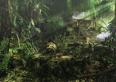 Landscape; Jungle; Leopard; Godrays