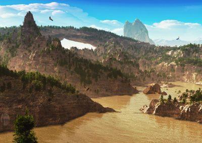 Landscape; Canyon; Water; River; Sandstone Arch; Eagles