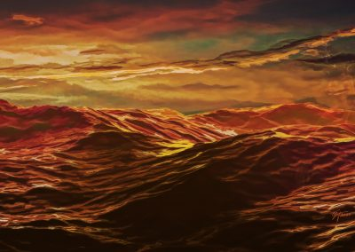 Seascape; Water; Waves; Evening; Sundown