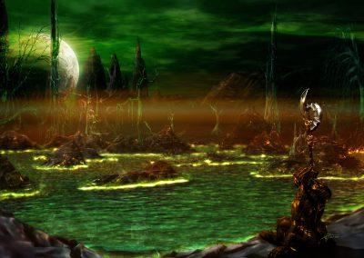 Space; Sci-Fi; DarkArt; Alien; Lake; Acid