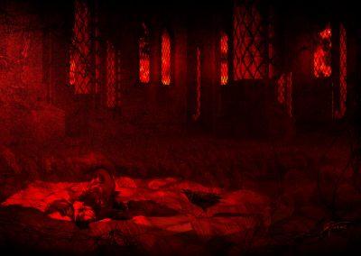 DarkArt; Apocalypse; Destruction; Church; Teddybear; Gas Mask