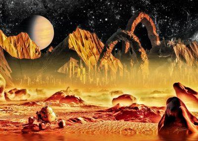 Space; Sci-Fi; City; Rover