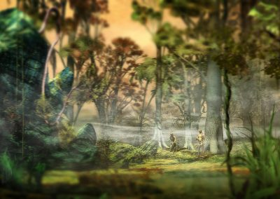 Fantasy; Jungle; Lizzards; Vignette