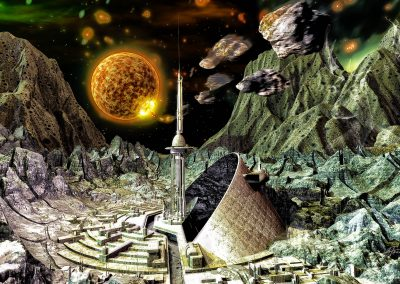 Space; Sci-Fi; City; Station; Meteors