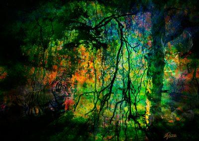 Abstrakt; Mystic; Tiger; Grunge; Jungle