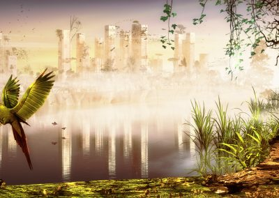 Landscape; City; Ruin; Destruction; Apocalypse; Mist; Dust