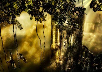 Landscape; DarkArt; Jungle; Ruin; Mist; Dust