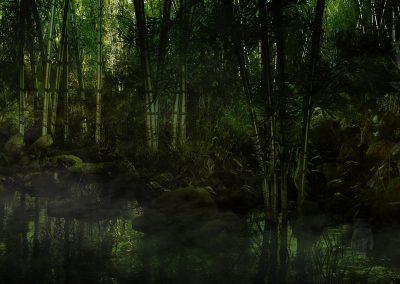 Landscape; DarkArt; Jungle; Panther; Water