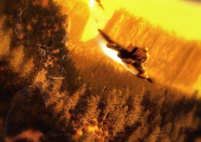 Landscape; Phantom; Forest; Dynamic; Blur; Evening Light; Mist