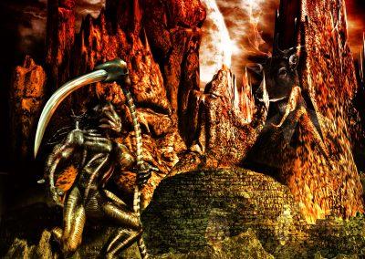 Space; Sci-Fi; DarkArt; Alien; Scythe