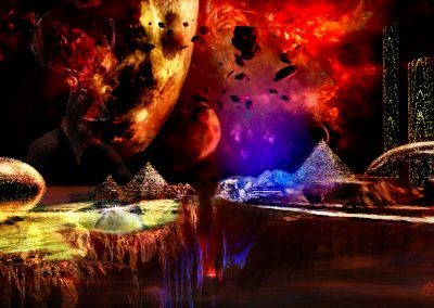 Space; Sci-Fi; City; Canyon