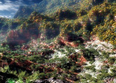 Landscape; Indian; ; Blue Sky;; Mist