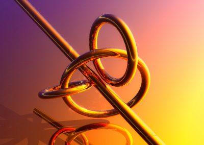 Abstrakt; Rings; Rod; Bar; Gold