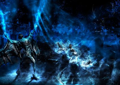 DarkArt; Demon; Skeleton; Graveyard