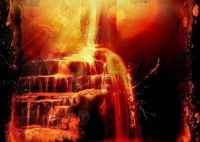 Composing; Sacral; Churchwindow; Waterfallstaitrs